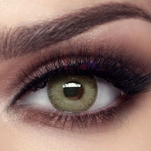 Buy Bella Gray Olive Contact Lenses - Elite Collection - lenspk.com