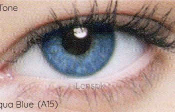 Buy Aryan Aqua Blue Eye Lenses - One Tone - lenspk.com