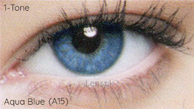 Buy Aryan Aqua Blue Eye Lenses - One Tone - lenspk.com